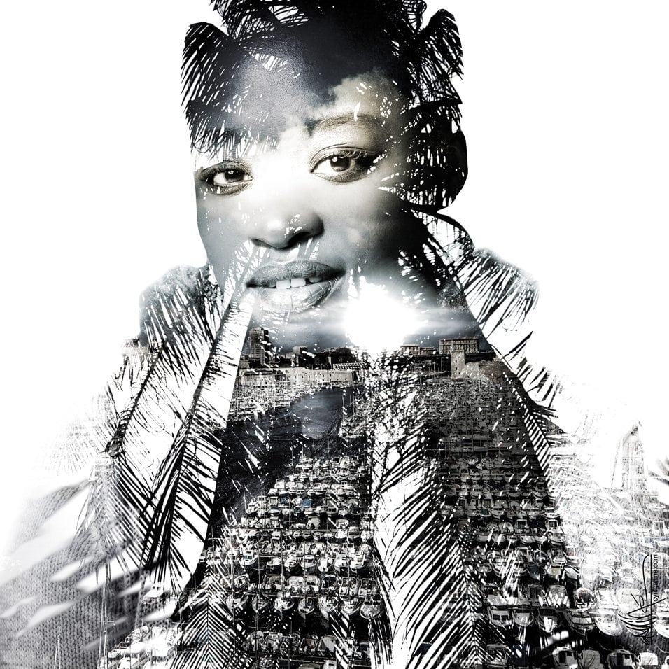 model mode phophotographie photo portrait art fine art double exposure